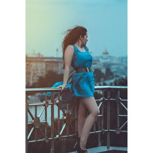 フリー写真, 人物, 女性, 外国人女性, ロシア人, ドレス, 横顔