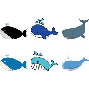 フリーイラスト, ベクター画像, AI, 動物, 哺乳類, 鯨(クジラ)