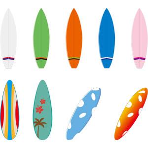 フリーイラスト, ベクター画像, AI, スポーツ, ウォータースポーツ, サーフィン, サーフボード