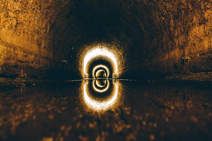 フリー写真 下水道の風景