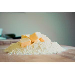 フリー写真, 調理, パン作り, 小麦粉, バター, 食べ物(食料)