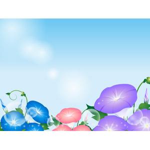 フリーイラスト, ベクター画像, AI, 背景, 植物, 花, 紫陽花(アジサイ), 夏, 蕾(つぼみ), 青空