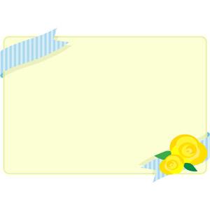 フリーイラスト, ベクター画像, AI, 背景, フレーム, 囲みフレーム, 年中行事, 6月, 父の日, 薔薇(バラ), 黄色の花