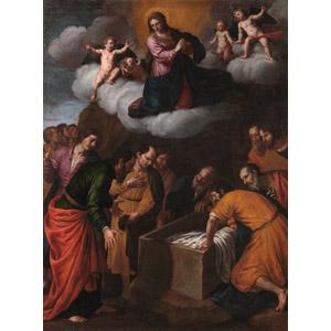 フリー絵画, アレッサンドロ・トゥルキ, 宗教画, キリスト教, 新約聖書, 聖母マリア, 聖母の被昇天, 天使(エンジェル)