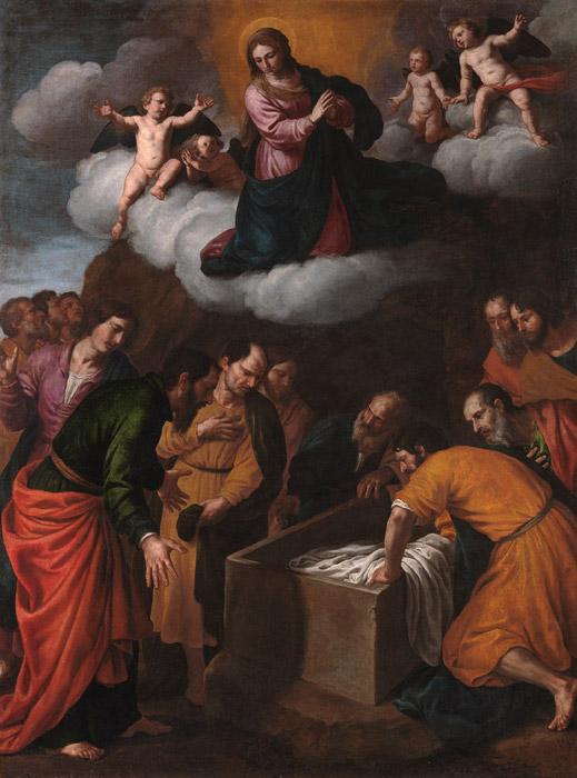 フリー絵画 アレッサンドロ・トゥルキ作「聖母の被昇天」