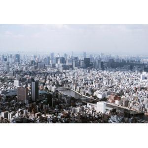 フリー写真, 風景, 建造物, 建築物, 高層ビル, 都市, 街並み(町並み), 河川, 隅田川, 日本の風景, 東京都