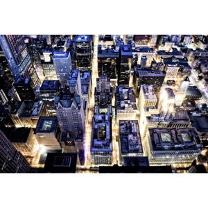フリー写真, 風景, 建造物, 建築物, 高層ビル, 都市, 街並み(町並み), 夜, 夜景, アメリカの風景, イリノイ州, シカゴ