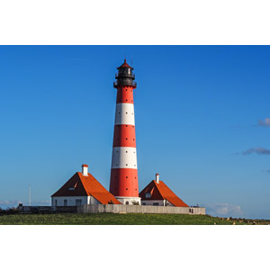 フリー写真, 風景, 建造物, 建築物, 灯台(ライトハウス), 青空, ドイツの風景
