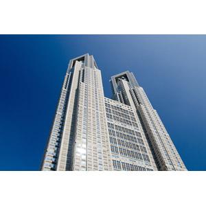 フリー写真, 風景, 建造物, 建築物, 高層ビル, 東京都庁, 日本の風景, 東京都, 青空