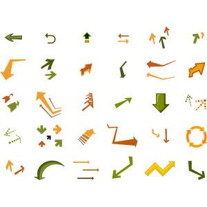 フリーイラスト, ベクター画像, AI, 矢印, 上を指す, 下を指す, 左を指す, 右を指す, 右上を指す, 左上を指す, 右下を指す, 左下を指す
