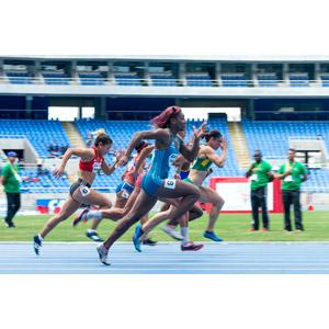 フリー写真, スポーツ, 陸上競技, 短距離走, 陸上競技場, 走る, 女性, 集団(グループ)