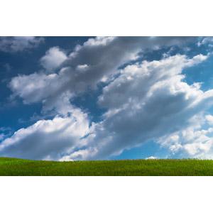 フリー写真, 風景, 自然, 空, 雲, 青空, 草原