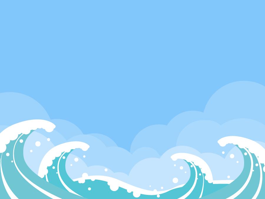 フリーイラスト 荒波の風景