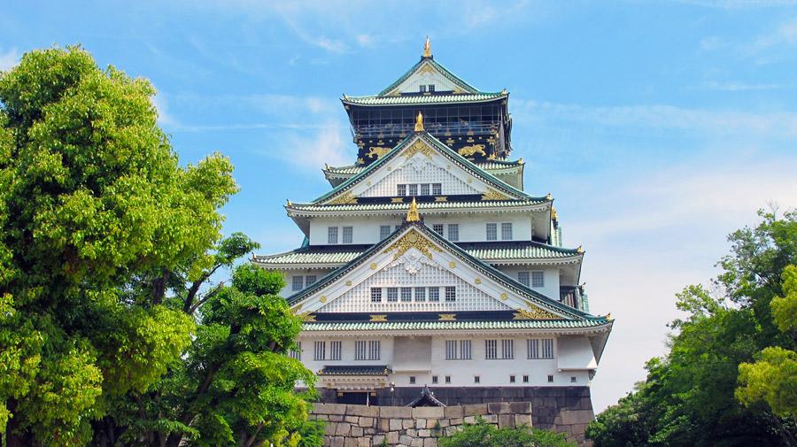 フリー写真 大阪城天守の風景