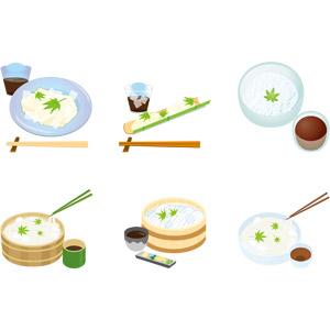 フリーイラスト, ベクター画像, AI, 食べ物(食料), 料理, 麺類, そうめん, 日本料理, 和食, 夏