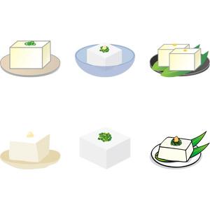 フリーイラスト, ベクター画像, AI, 食べ物(食料), 料理, 豆腐料理, 冷奴(冷や奴), 豆腐, 日本料理, 和食, 夏
