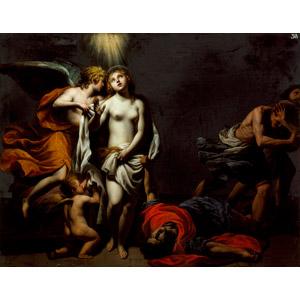 フリー絵画, アレッサンドロ・トゥルキ, 宗教画, キリスト教, 聖アグネス, 天使(エンジェル)