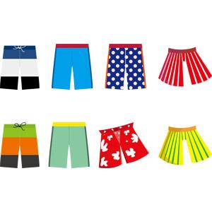 フリーイラスト, ベクター画像, AI, メンズファッション, 衣服(衣類), 水着, 海水パンツ, 夏