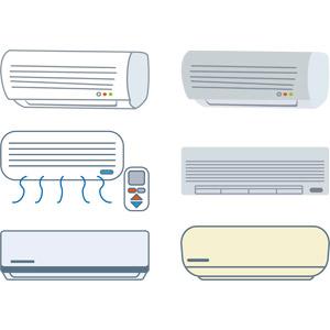フリーイラスト, ベクター画像, AI, 家電機器, エアコン, 夏, 冬