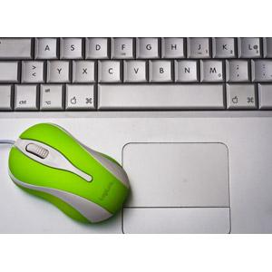 フリー写真, 家電機器, パソコン(PC), ノートパソコン, マウス