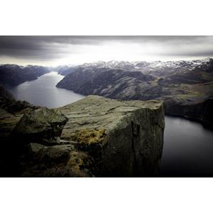 フリー写真, 風景, 自然, 崖, フィヨルド, プレーケストーレン, ノルウェーの風景, 海
