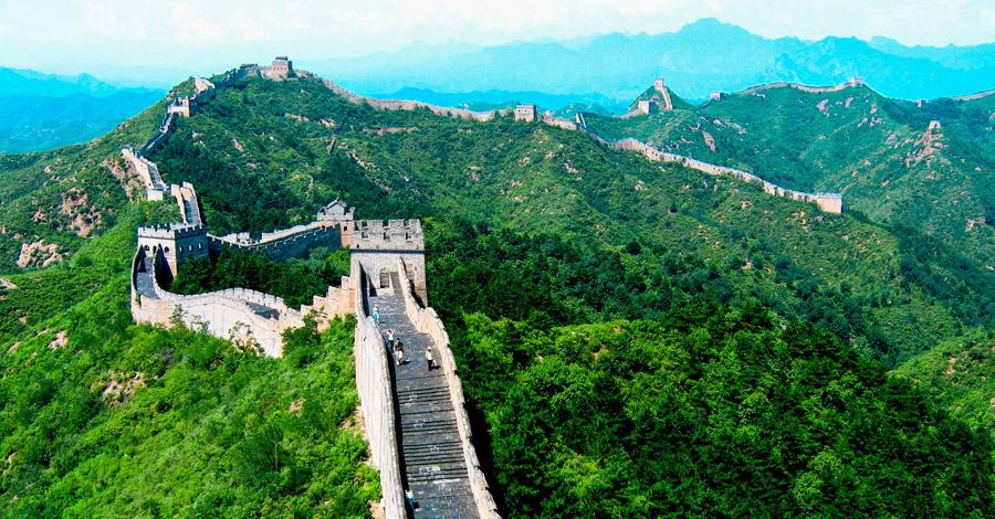 フリー写真 万里の長城の風景