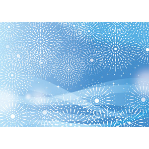 フリーイラスト, ベクター画像, AI, 背景, 花火, 打ち上げ花火, 青色(ブルー), 夏