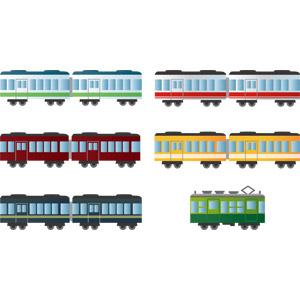 フリーイラスト, ベクター画像, AI, 乗り物, 列車(鉄道車両), 電車
