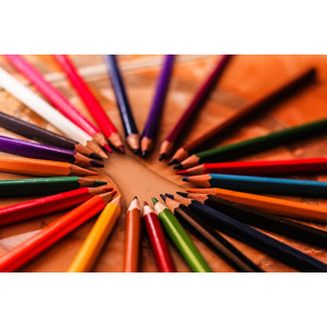 フリー写真, 背景, 画材, 色鉛筆