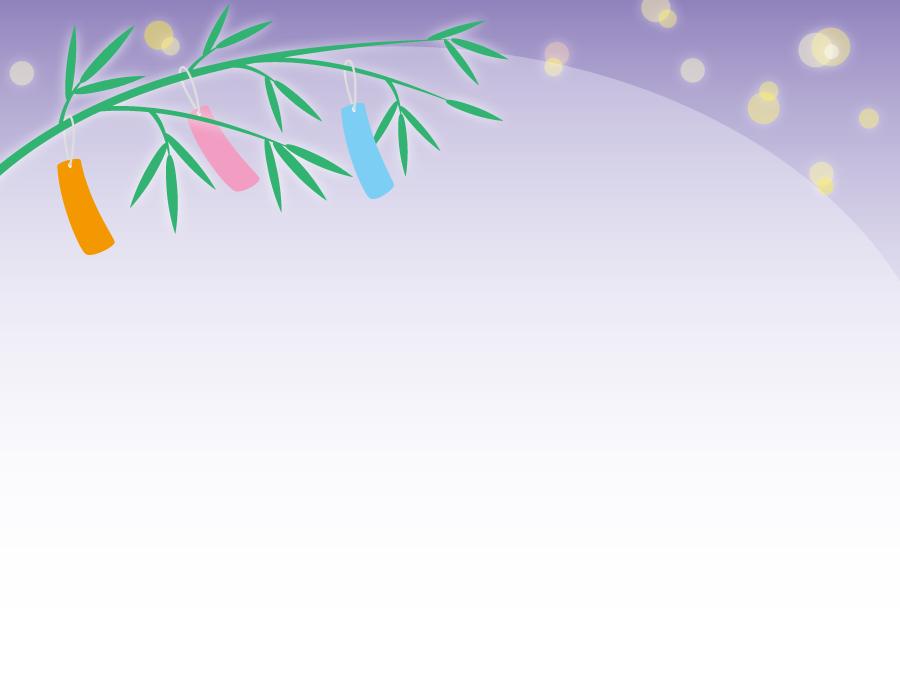 フリーイラスト 星空と笹飾りの七夕の背景