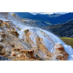 フリー写真, 風景, 自然, 温泉, 岩, イエローストーン国立公園, 世界遺産, アメリカの風景