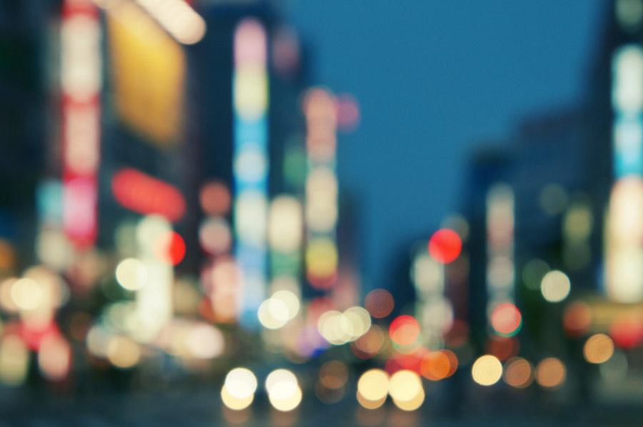 フリー写真 東京都豊島区の街の灯り