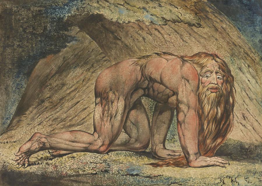 フリー絵画 ウィリアム・ブレイク作「ネブカドネザル王」
