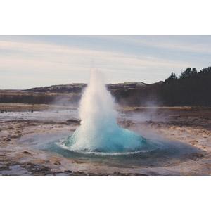 フリー写真, 風景, 自然, 間欠泉, 水しぶき, アイスランドの風景