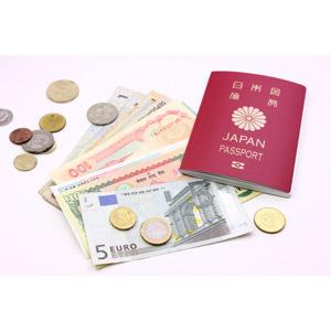 フリー写真, お金, 紙幣, 硬貨, ユーロ, パスポート, 旅行(トラベル), 海外旅行
