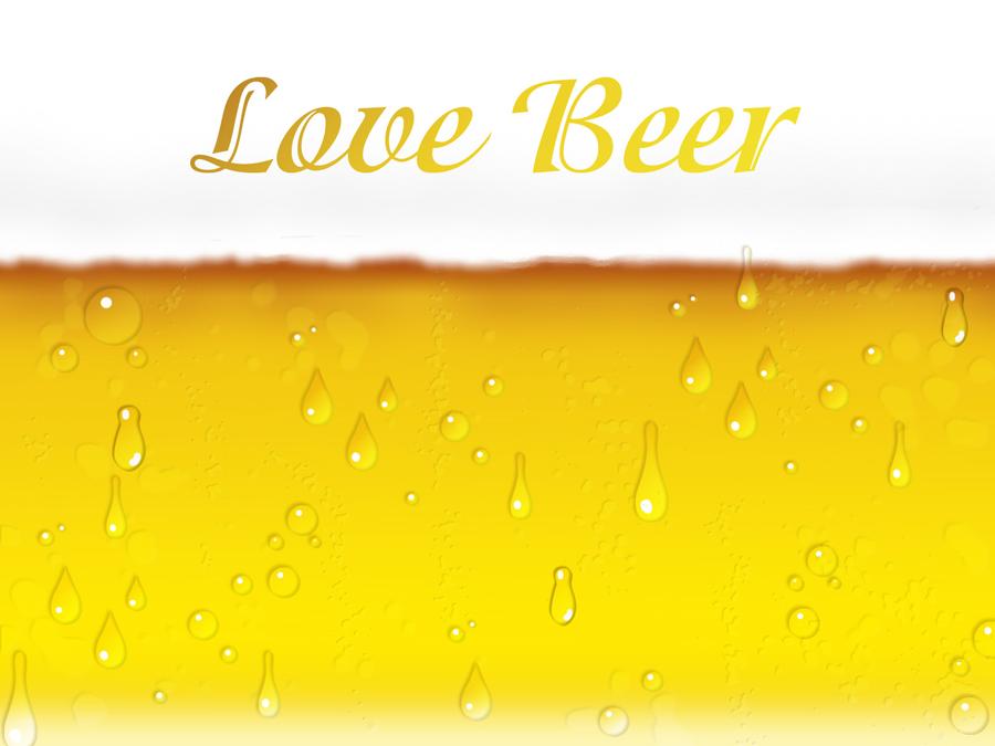フリーイラスト ビールの背景