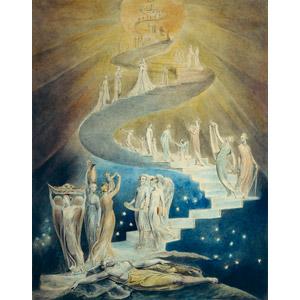 フリー絵画, ウィリアム・ブレイク, 宗教画, 旧約聖書, 階段, 夢, 天使(エンジェル)