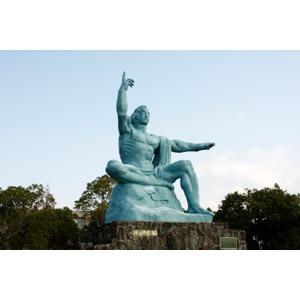 フリー写真, 彫像, モニュメント, 平和祈念像, 日本の風景, 長崎県, 原子爆弾(原爆)