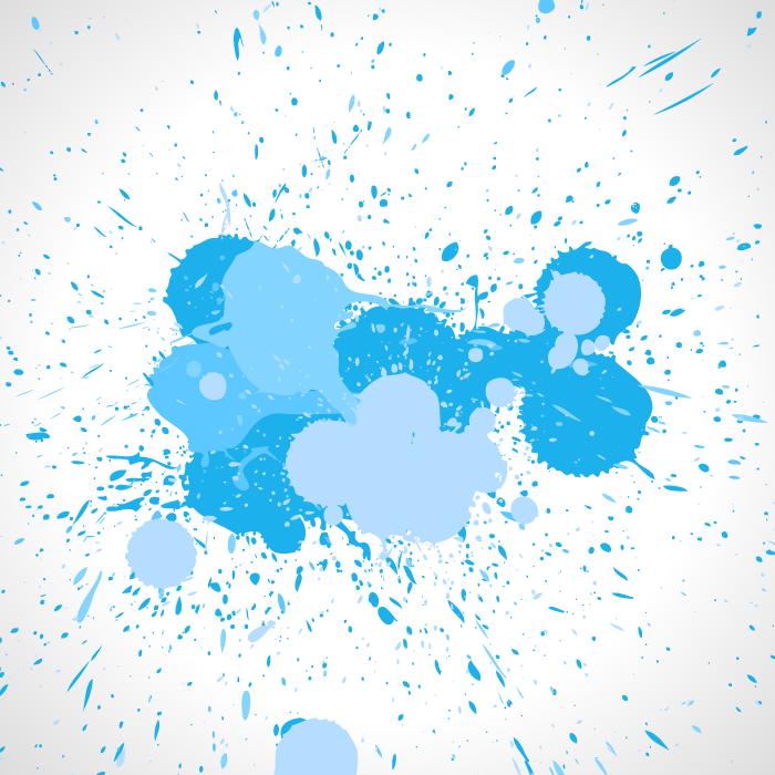 フリーイラスト 飛び散った水色のペンキの背景