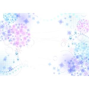 フリーイラスト, ベクター画像, AI, 背景, 6月, 梅雨, 紫陽花(アジサイ), 雨
