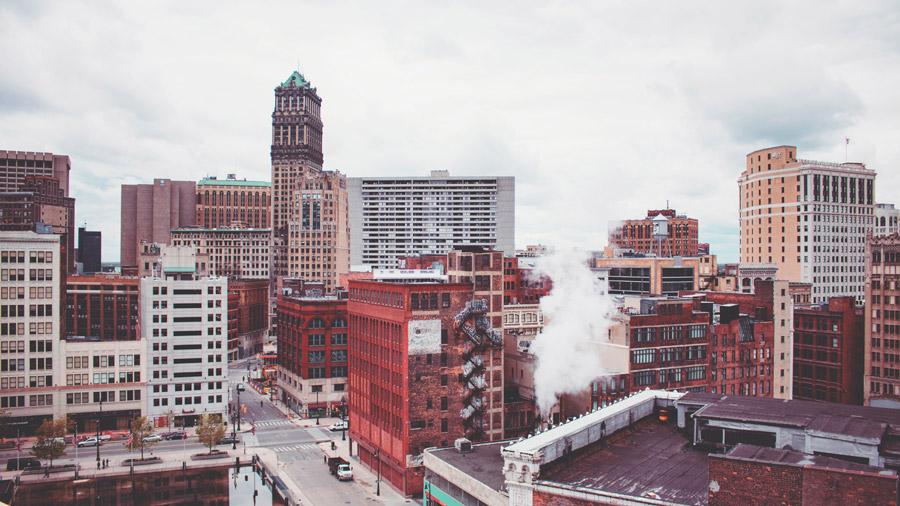 フリー写真 デトロイトの街並み風景