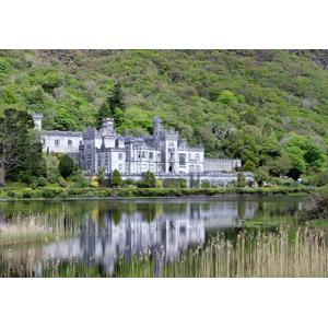 フリー写真, 風景, 建造物, 建築物, 城, 修道院, カイルモア修道院, 湖, アイルランドの風景