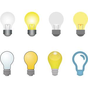 フリーイラスト, ベクター画像, AI, 照明器具, 電球