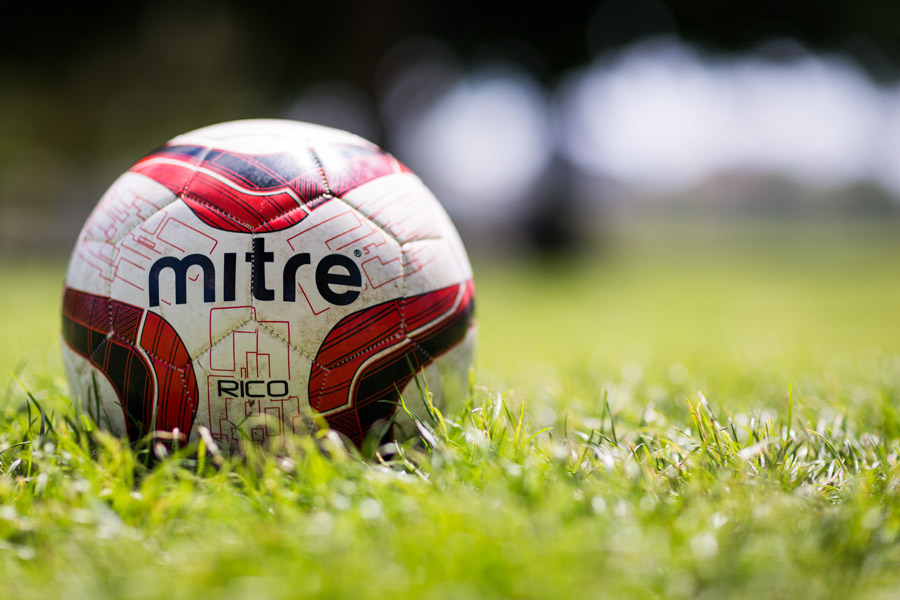 フリー写真 芝生の上のサッカーボール