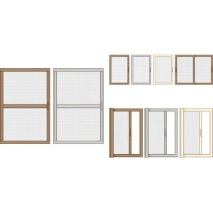 フリーイラスト, ベクター画像, AI, 窓, 建具, 網戸