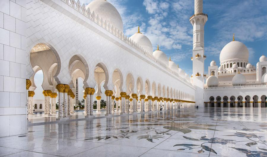 フリー写真 シェイク・ザーイド・モスクの風景