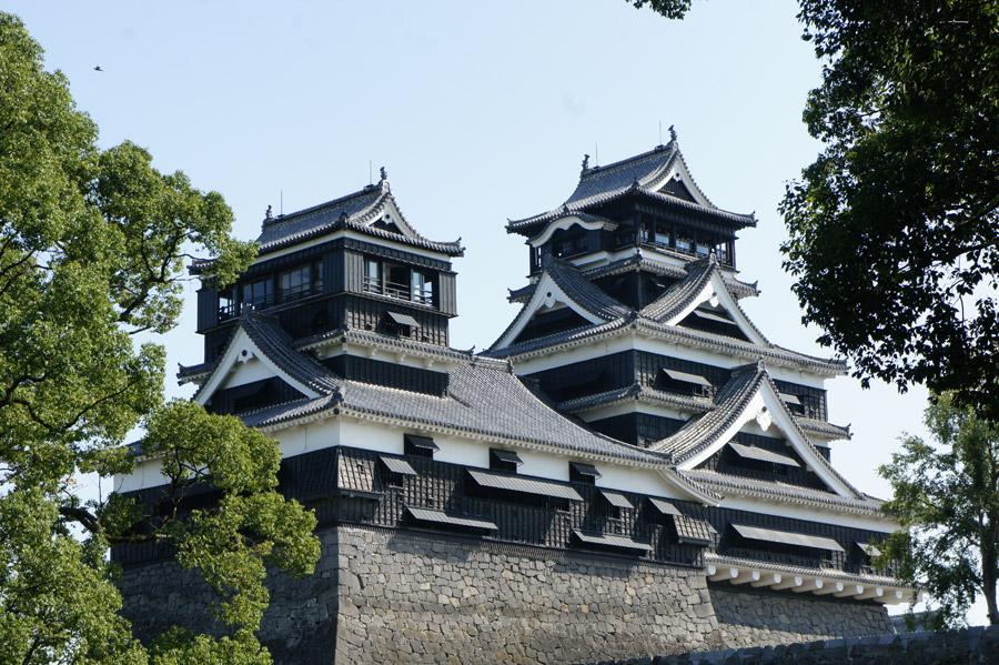 フリー写真 熊本城の小天守と大天守
