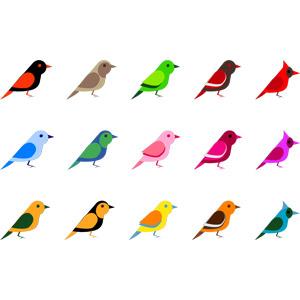 フリーイラスト, ベクター画像, AI, 動物, 鳥類, 鳥(トリ), 小鳥