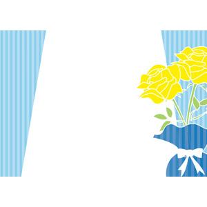 フリーイラスト, ベクター画像, AI, 年中行事, 6月, 父の日, 薔薇(バラ), 黄色の花