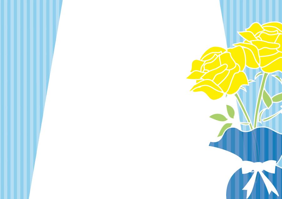 フリーイラスト 黄色のバラの父の日の背景